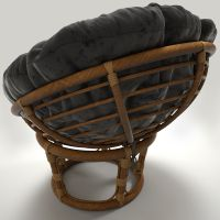 Rattan chair Papasan 3D Model MAX OBJ | CGTrader.com