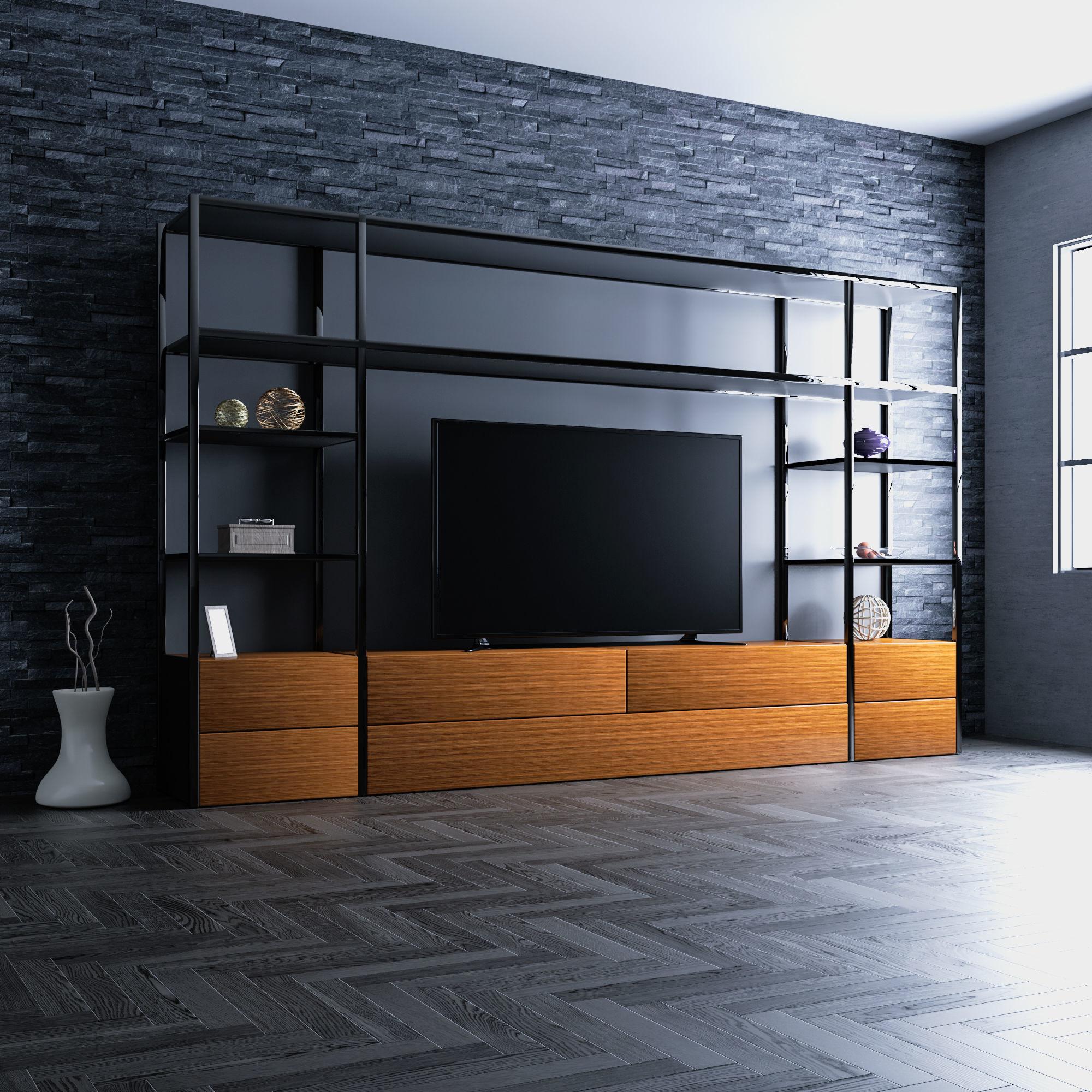 3d Modern Tv Unit Cgtrader