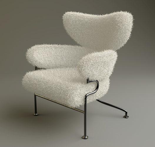 furry chair 3D asset  CGTrader