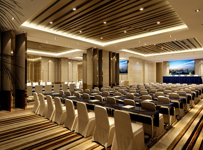 3D Huge Conference room  CGTrader