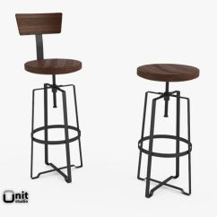 Swivel Chair Vr Wedding Covers Scarborough Rustic Industrial Stool By West Elm 3d | Cgtrader