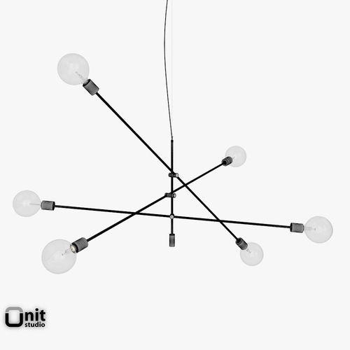 Mobile Chandelier Grand Pendant Light By West Elm Model Max Obj S Fbx 10