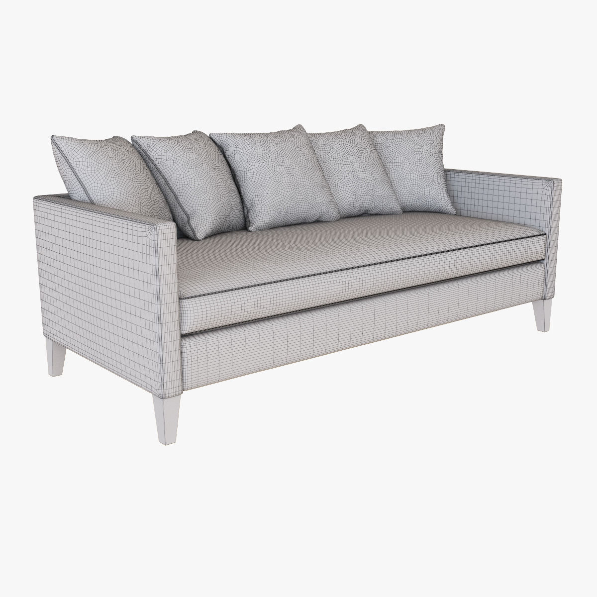 dunham sofa modern bed sectional west elm down filled toss back 3d model max obj mtl fbx