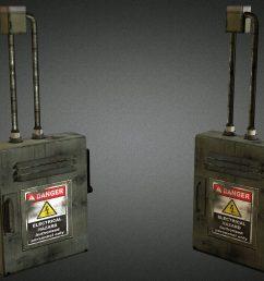 electric fuse box 01 low poly 3d model [ 1920 x 1080 Pixel ]