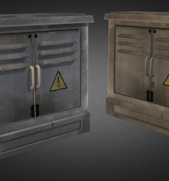 electric fuse box 02 low poly 3d model [ 1920 x 1080 Pixel ]