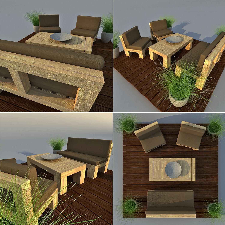 Patio Furniture 3D Model MAX OBJ 3DS FBX MTL  CGTradercom