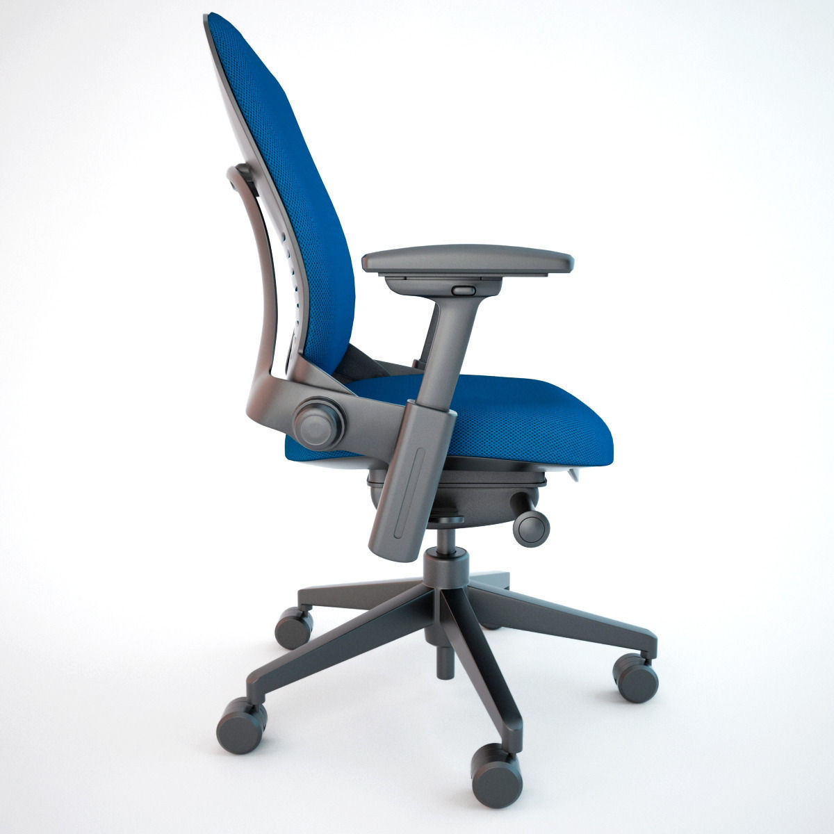 office chair 3d model wooden parts suppliers steelcase leap max obj fbx