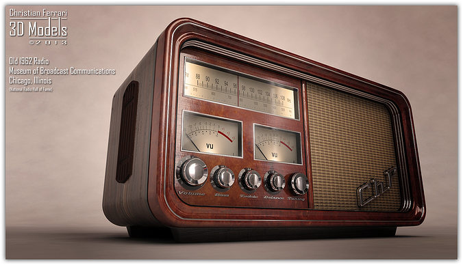 Old Time Car Wallpaper Old Time Radio 3d Cgtrader