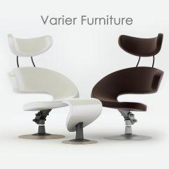 Ergonomic Chair Norway White Slipcover Dining Varier Peel 3d Model Max 3ds Fbx Cgtrader