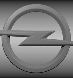 opel logo 3d model [ 1920 x 1080 Pixel ]