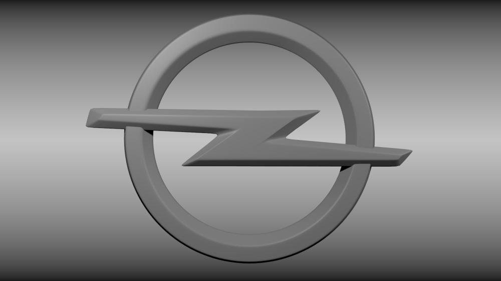 medium resolution of opel logo 3d model