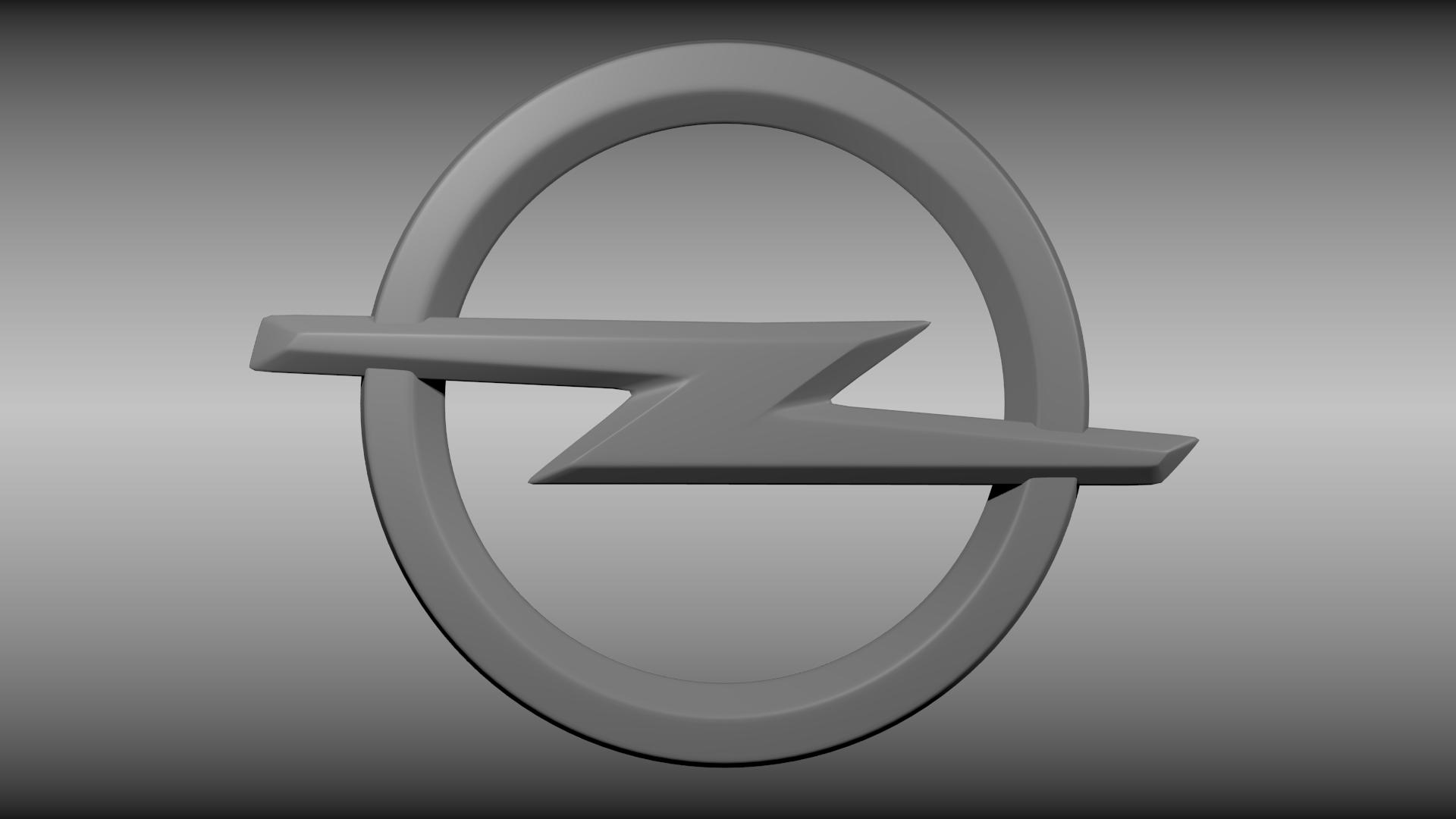hight resolution of opel logo 3d model