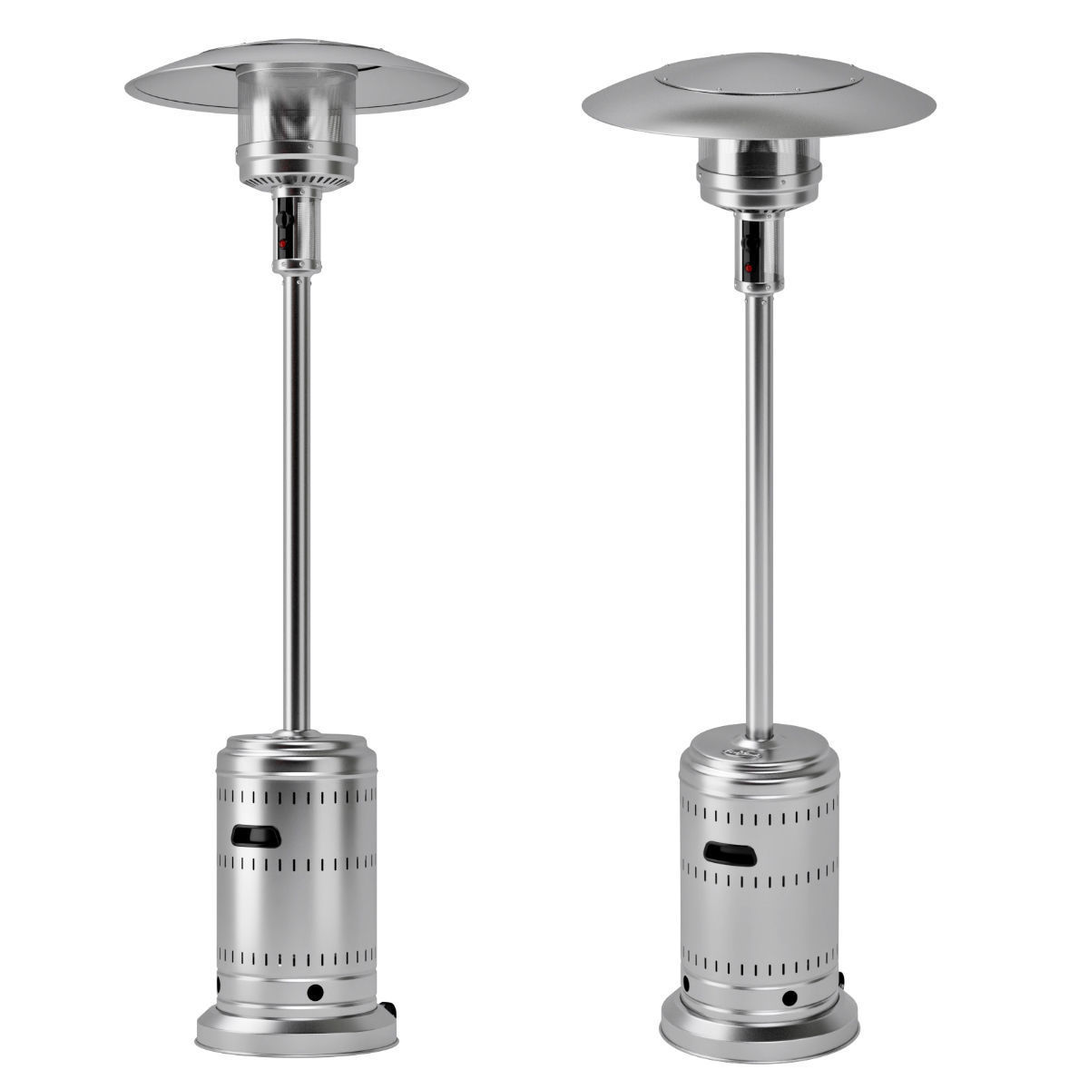 outdoor patio heater with wheels 3d model