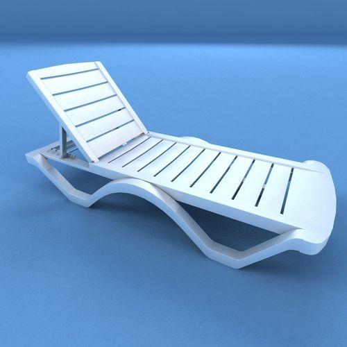 3D asset Sunbed Plastic  CGTrader