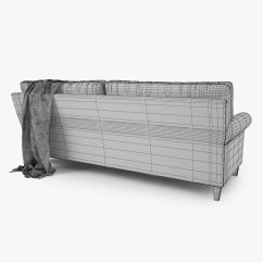 Crate And Barrel Shelter Sofa Dimensions Cheapest Sofas Sydney Montclair 2 Seat 3d Model Rigged Max