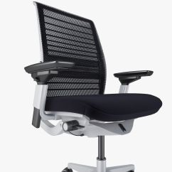 Office Chair 3d Model White High Back Steelcase Think Max Obj Fbx Mtl