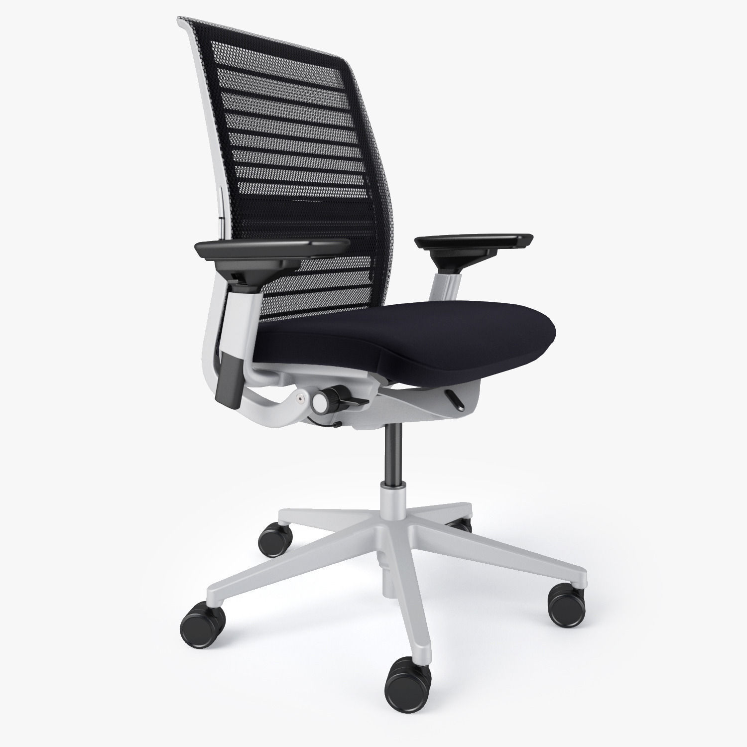 office max chair plastic cheap chairs steelcase think 3d model obj fbx mtl