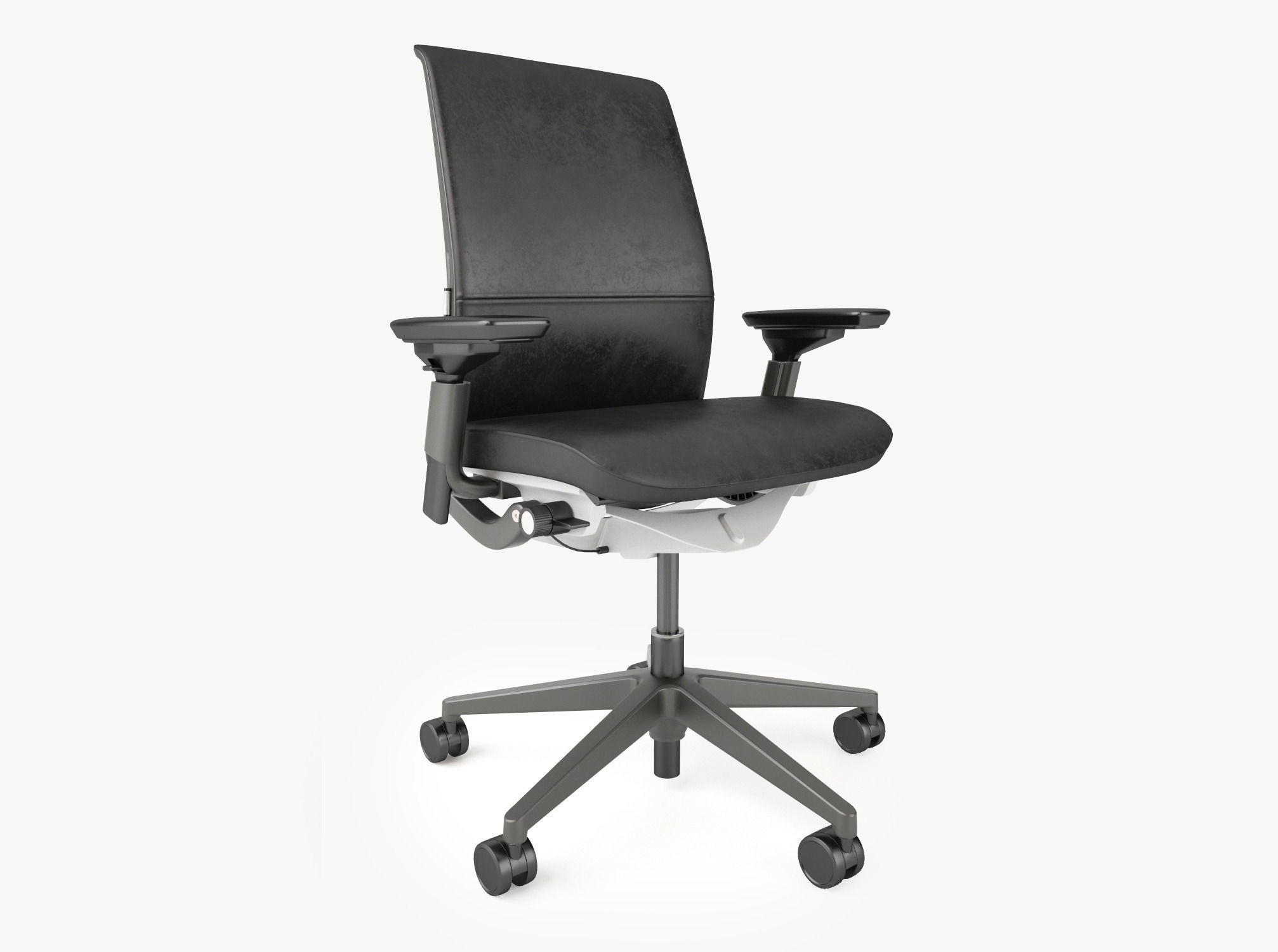 Steelcase Think Chair Crate And Barrel Steelcase Think Ebony Chair 3d Model