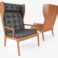 Wingback Chair Uk Seagrass Dining 3d James Cgtrader Model