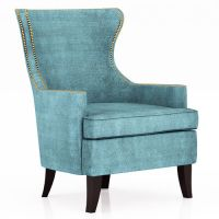 Blue Wing Back Chair - Home Ideas