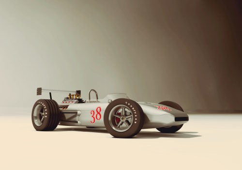 small resolution of race car old style 3d model