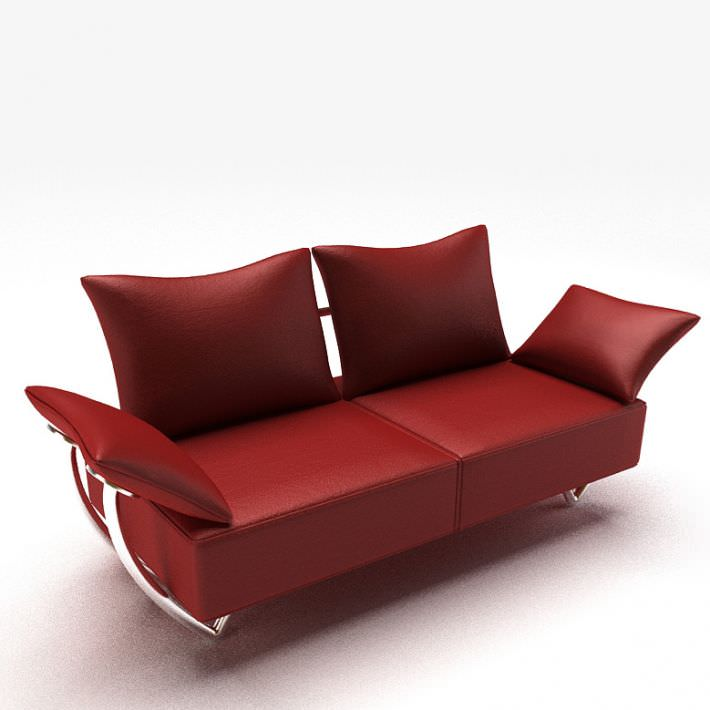 Here are 4 tips to choose the one you will love for years to come. Modern Red Couch 3D model | CGTrader