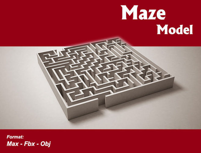 Low Poly Maze Model CGTrader