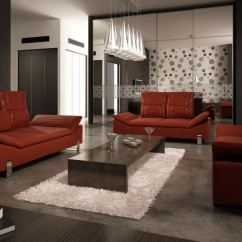 Black And Red Leather Sofa Ottoman Fold Out Single Bed With Suede Cover Apartment Sofas Archinteriors Vol 14 3d Model Max