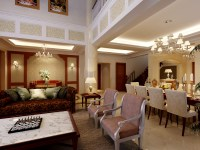 Luxurious Living Room With High Ceilings 3D Model MAX ...
