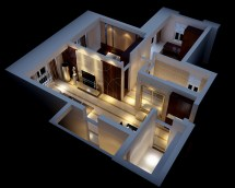Modern House Interior Fully Furnished 3d Model Max