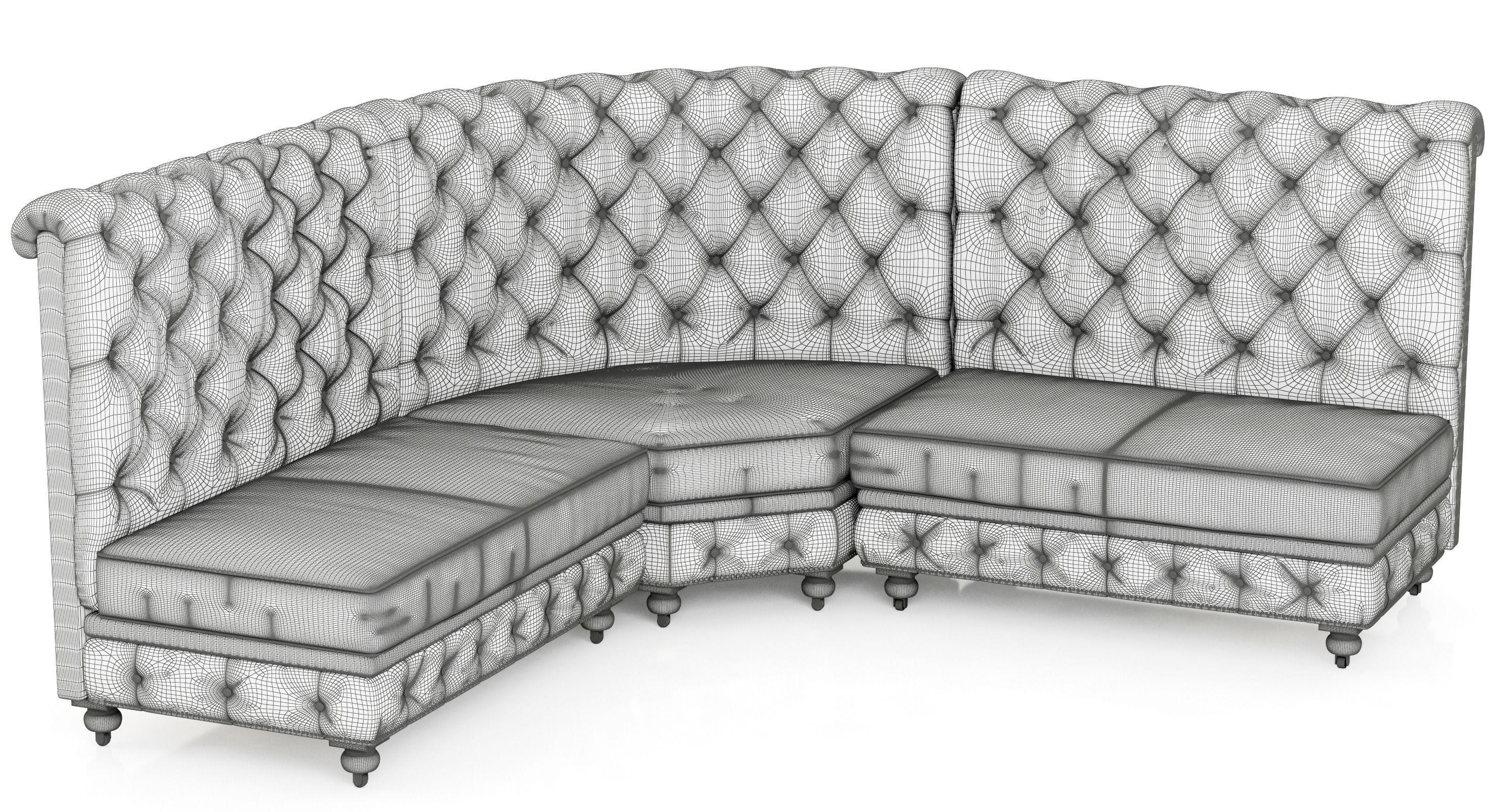 restoration hardware kensington sofa 106 replace rv dinette with leather l banquette 3d