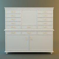 Antique White Drawer Storage Cabinet 3D model   CGTrader