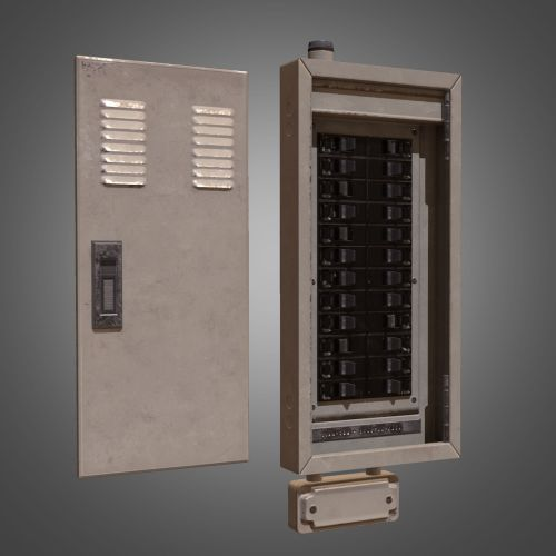 small resolution of electrical fuse box pbr game ready low poly 3d model