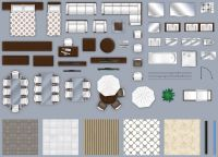 2d furniture floorplan top