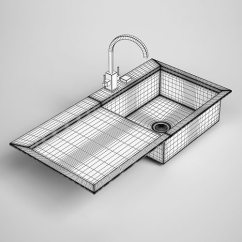 24 Kitchen Sink Tables With Bench Seating 3d Model Cgtrader Max Obj Mtl Fbx C4d 2