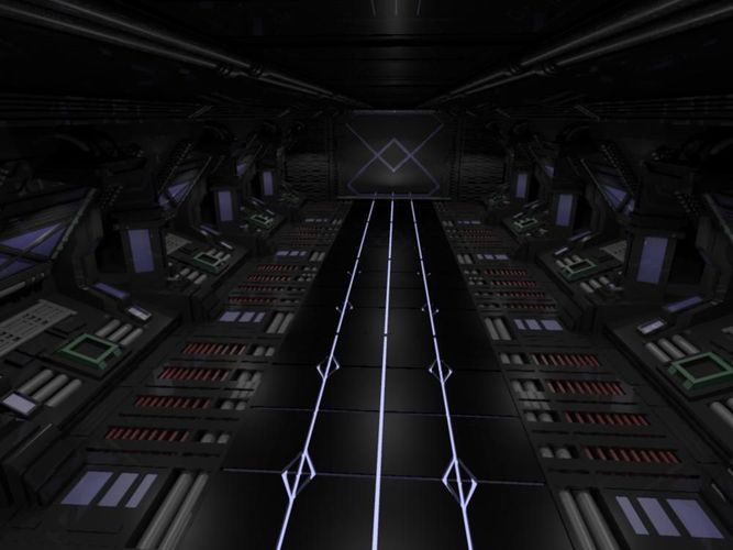 3D Space Ship Hallway Scifi CGTrader