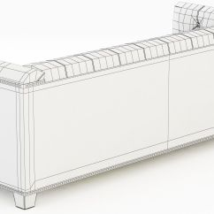 Savoy Leather Sofa Restoration Hardware What Is The Best Bed 3d Model Max Obj