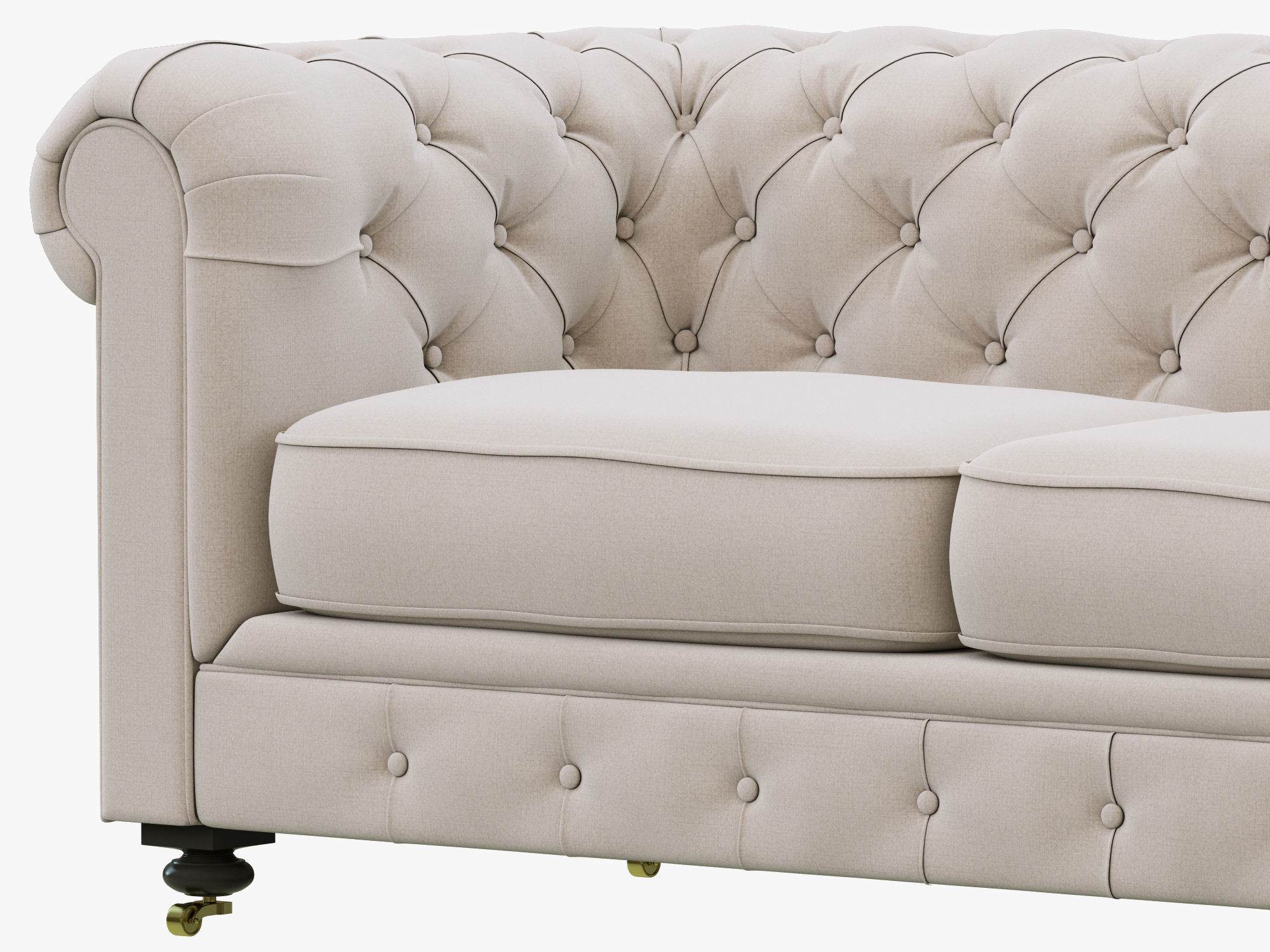 restoration hardware kensington sofa 106 gray with accent chairs upholstered soma fremont roll arm
