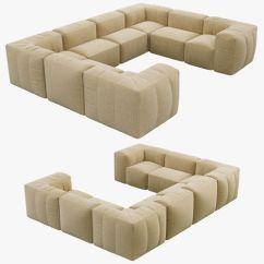 U Sofa Costco Restoration Hardware Preconfigured Fulham Upholstered 3d Model Max Obj Mtl Fbx