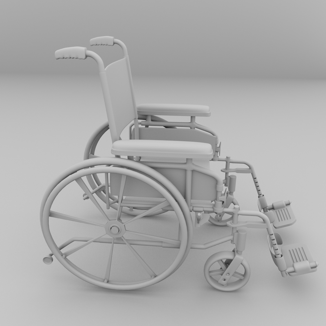 wheel chair buy online cheap pool chaise lounge chairs wheelchair 3d model 3ds fbx blend dae | cgtrader.com