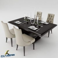 3D model dining Dining table set | CGTrader