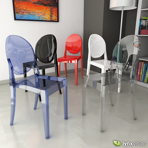 victoria ghost chair folding wicker chairs 3d model by philippe starck
