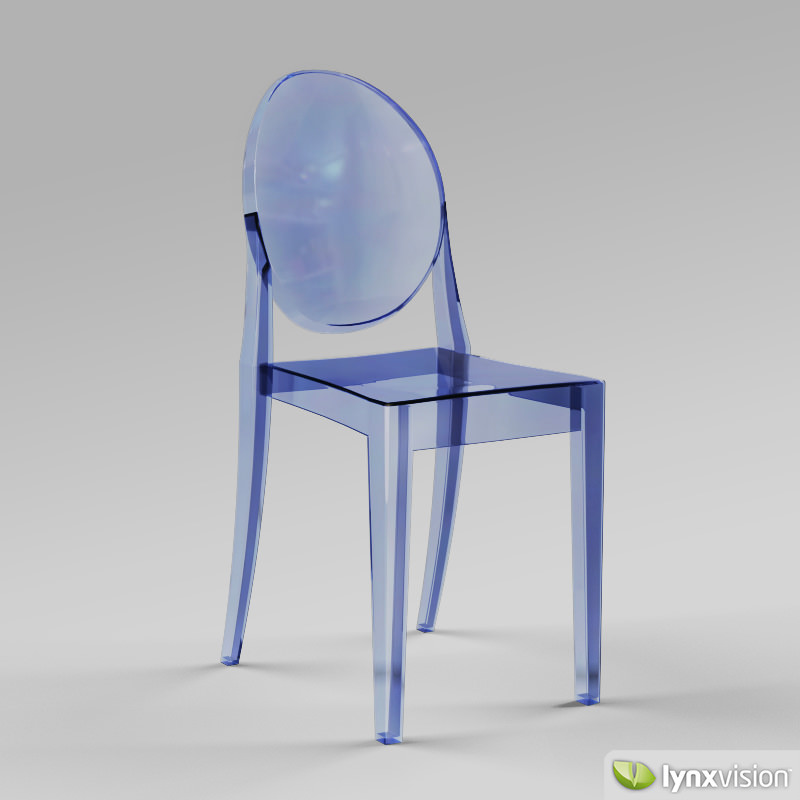 Victoria Ghost Chair by Philippe Starck 3D Model MAX OBJ