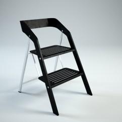 Step 2 Chair Best Design Of All Time Vintage Usit Stepladder Version 3d Model Max