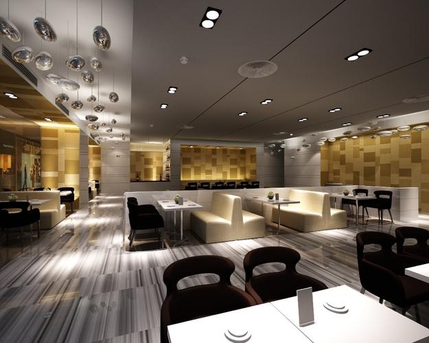 Modern Restaurant Interior 3D  CGTrader