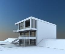 Modern Villa With Balcony 3d Model Max