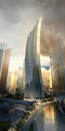 3d Model Exotic Skyscraper Design Cgtrader