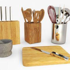 Kitchen Utensils Set Barbecue 3d Model Cgtrader Obj Mtl 3ds C4d 1