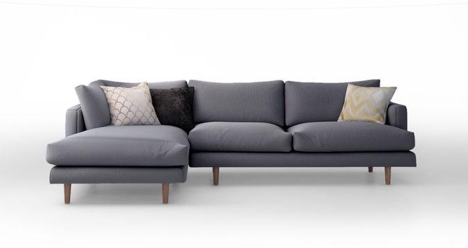3D model Hampton Chaise Corner Sofa  CGTrader