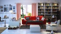 Living Room with Couch and Large Cabinets 3D Model MAX ...